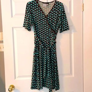 Funky Retro pattern dress - size 12 petite